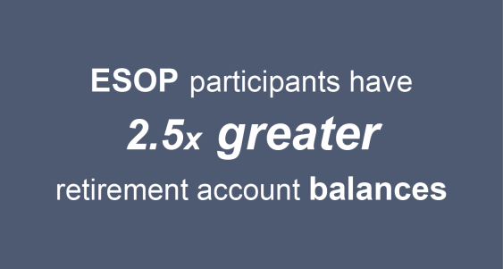 ESOP participants have 2.5 times greater retirement account balances