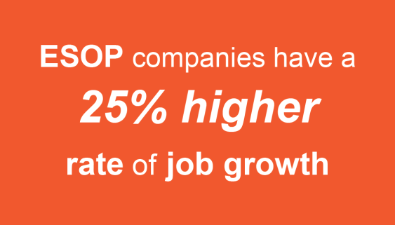 ESOP companies have a 25% higher rate of job growth