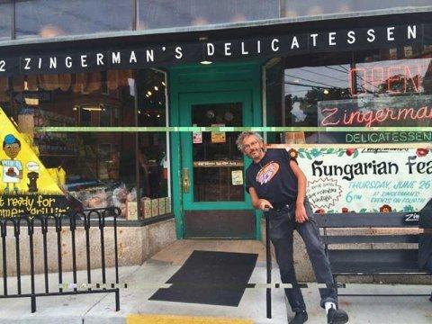 Zingerman's Cofounder and CEO Ari Weinzweig in front of Zingerman's Deli