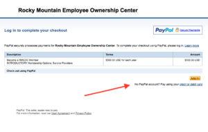 no paypal account screen shot